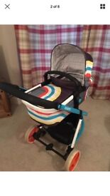Cosatto pram 2 in 1 system. Foldable good condition