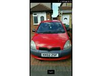 Red toyota yaris for sale or swap for 125cc motorbike £600