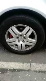 Vw wheels 5 stud alloy set of 5