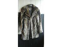 girls age 12/13 yrs fur coat