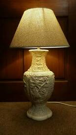 Beautiful Vintage Oriental Style Plaster Lamp