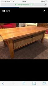 M&S Solid wood coffee table with storage basket