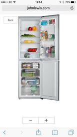 Almost new Silver Fridge freezer frost free