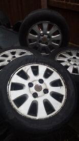 195/60/15 tyres on alloys