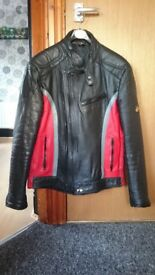 Ladies size 12 'Kett' genuine leather motorcycle jacket - £25 ono