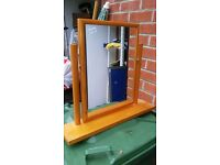 Pine Dressing Table Mirror.