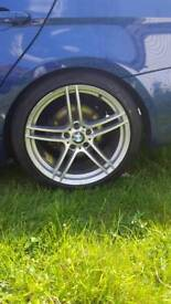 "BMW 313 19"" ALLOY WHEELS WITH TYRES"