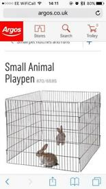 Small animal pen