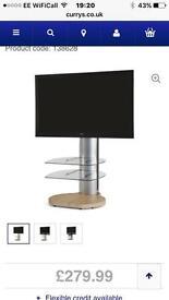 Oak Tv stand with bracket