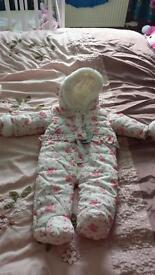 Brand new baby girl snow suit 0-3 months