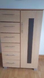 Beech wardrobe and matching locker for sale