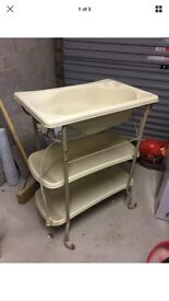 Mamas and papas baby bath with wheels storage and drainage system
