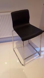 Bar stool, metal frame and durable plastic seat