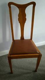 Dining chairs, set of 5