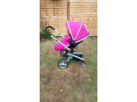 Silver Cross Surf stroller pushchair pram from birth Raspberry