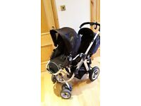 I Candy Apple to Pear Double Buggy with Carry cot