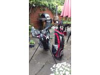 Golf bag and clubs with extra bag. Good starter sets £45 for everything