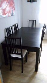 Ikea table 6 chairs