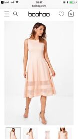 BLUSH Midi Skater Dress by Boohoo RPR £20