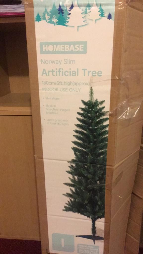 Slimline Christmas tree from homebase
