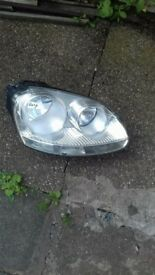 volkswagen golf mk5mk5 headlight new never used it in vgc