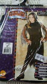 GIRLS HALLOWEEN VAMPIRESS FANCY DRESS COSTUME - AGE 5 - 7 YRS - NEW