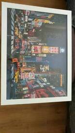 New york times Square jigsaw framed picture