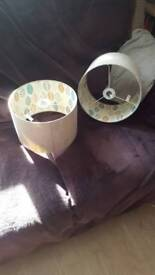 2 lovely Dunelm light/lamp shades