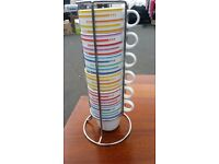 Stacking Mugs in metal holder