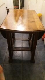 Vintage drop leaf table - great for space saving when full size not needed