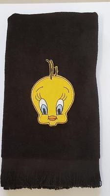 Tweety bird fingertip TOWEL LOOKS CUTE cartoon FREE SHIP black vintage applique