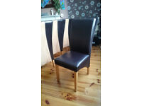 for sale 6 high back chairs. they are a very good condition