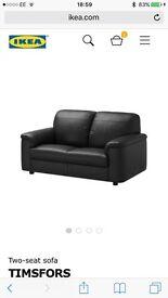 Free small faux leather ikea sofa dark brown