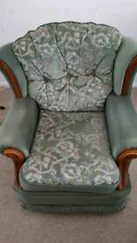 3 piece suite with footstool.