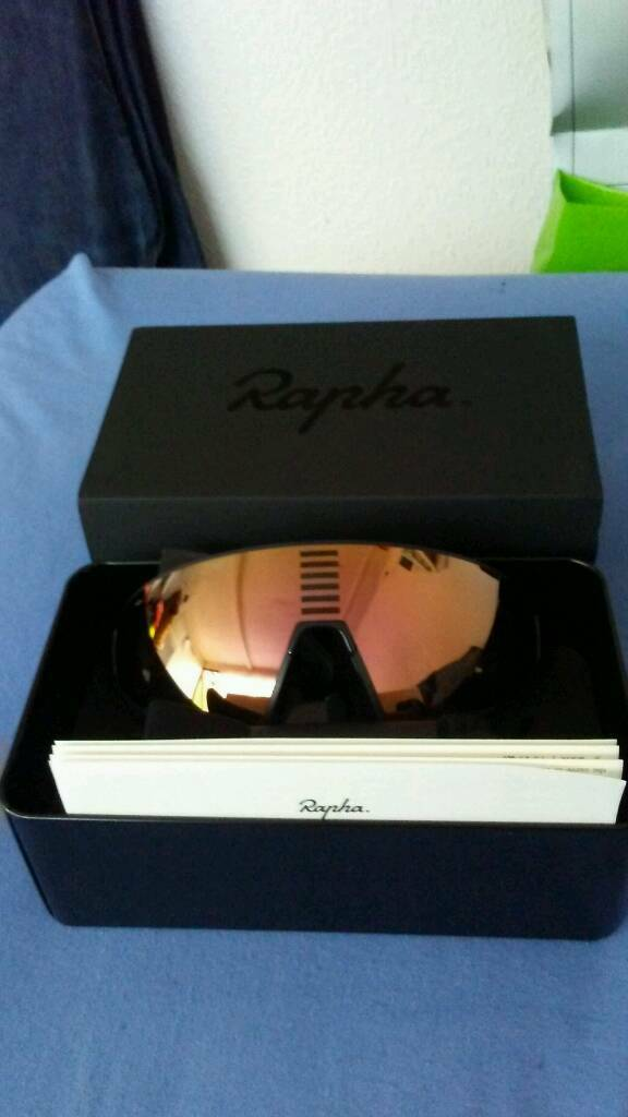 1ca78536aa Rapha Pro team flyweight glassse black bronze and white bronze