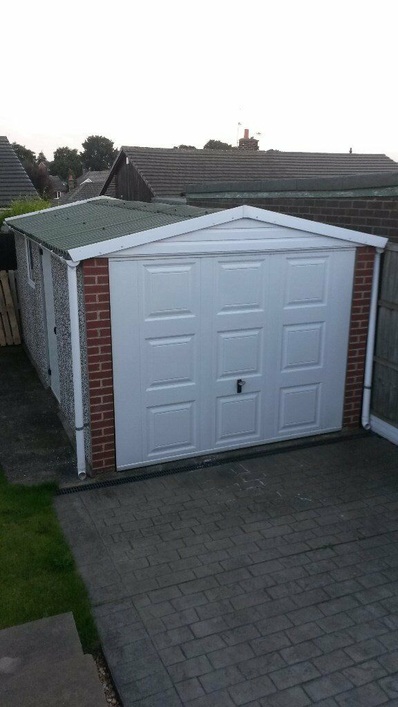 Concrete Sectional Garage Apex Roof And Cardale Front And