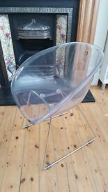 4 transparent plastic HABITAT dining chairs in a very good condition
