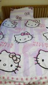 Hello Kitty single duvet. From a smoke free and pet free home. Collection only