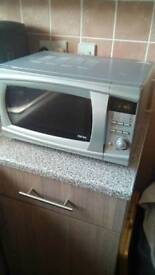 Combo microwave and grill