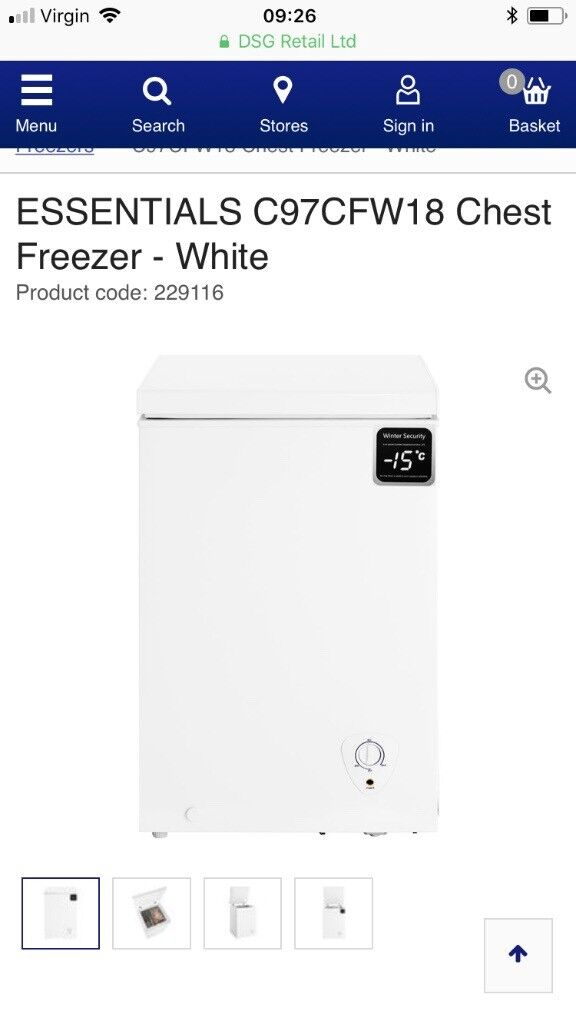 79da3b2a047b Brand new opened chest freezer bought 7 days ago