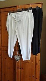 Marks and Spencer linen trousers x 2