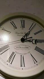 Large cream kitchen wall clock