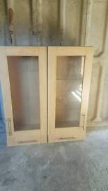 2 sturdy display glass cabinats