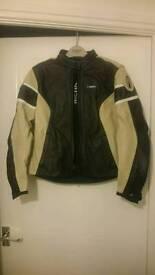 Ladies Richa black and cream motorcycle jacket. Size 8