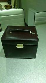 XL real leather jewellry box by Dulwich designs