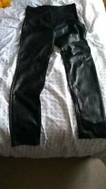 Pleather maternity trousers size 16