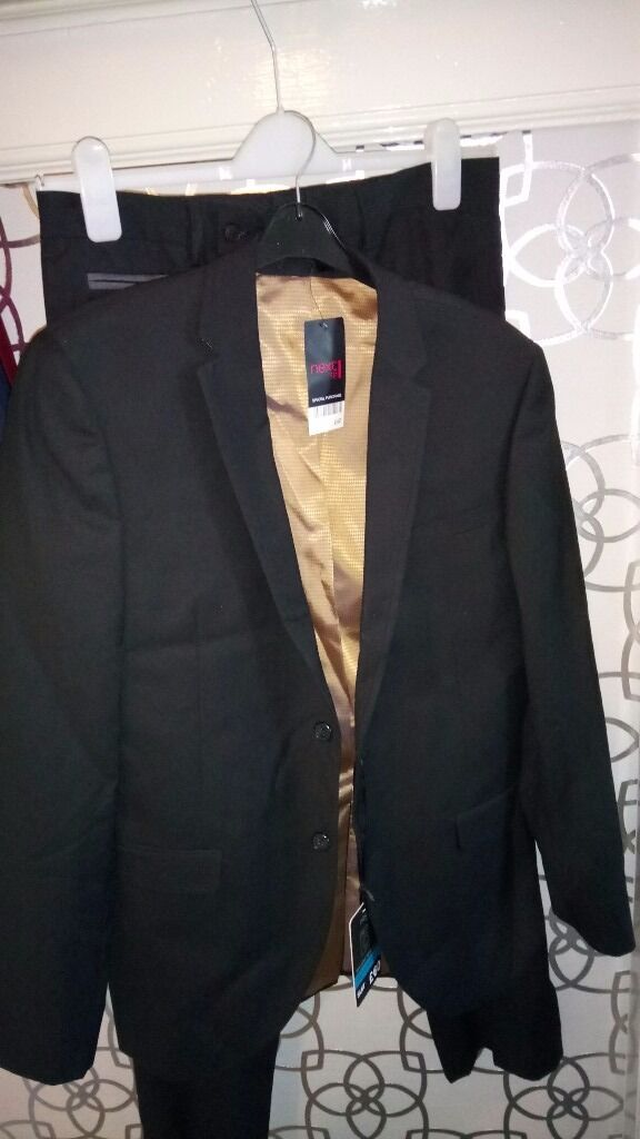 Mens new black Next suit for sale | in Dundee | Gumtree
