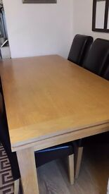 8 Seater Oak Dining Table