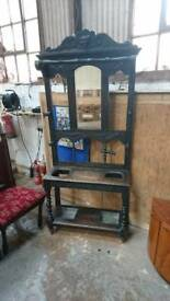 Antique Hall stand for coats hats and umbrellas.