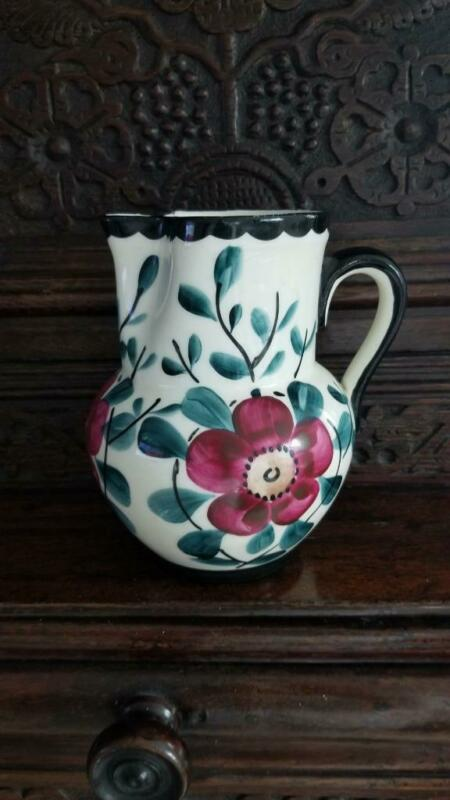"Lovely Vintage 7"" Erphila Czechoslovakia Floral Pitcher"